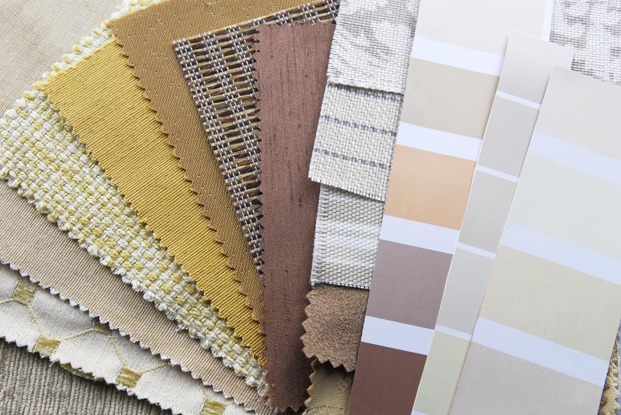 Paleta de colores cálidos para decoración moderna